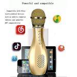 SHKY Microphones de karaoké sans Fil, Microphone Bluetooth Multifonctions pour iPhone, Android, Lecteur de Micro Portable, pour KTV, Chant à la Maison et à la fête,Red de la marque image 3 produit