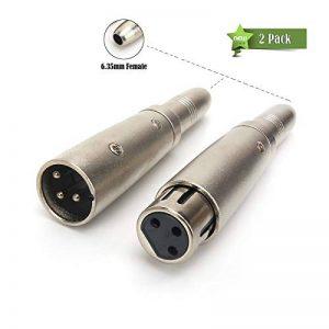 Siyear 6,35mm femelle vers XLR femelle 3broches et 6,35mm Jack femelle vers XLR mâle prise audio stéréo MICR adaptateur convertisseur connecteur, XLR vers 6,35(1ensemble) de la marque SiYear image 0 produit