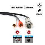 Siyear XLR Y Splitter câble de raccordement, 1XLR femelle vers 2RCA mâle Plug câble adaptateur, XLR 3broches Mic Splitter, 2RCA vers XLR 1,5m (1.5m) de la marque SiYear image 2 produit