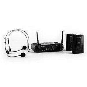 Skytec 179178–Stwm712h Lot de 2 micros sans fil à 2canaux VHF de la marque Skytec image 0 produit