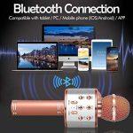 SunTop Microphone Bluetooth Sans Fil, Karaoke Sans Fil, Karaoké Micro Sans, Bluetooth haut-parleur, des Chansons Haut-parleur AUX pour ordinateur portable, iPhone, iPad, Android Smartphone (Rose Gold) de la marque SunTop image 3 produit