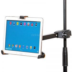 """Support de tablette pour iPad, pied pour micro, support à pince, pour tablettes de 8,9-10,4"""" PAD405 de la marque click4av image 0 produit"""