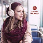 TaoTronics Casque Bluetooth sans Fil à Réduction de Bruit Active Écouteurs ANC Casque Pliable à Basses Puissantes Double Haut-Parleur 40 mm, 25 Heures d'Autonomie, Micro Intégré à CVC 6.0 - Rose de la marque TaoTronics image 3 produit