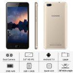 Telephone Portable Debloqué, DOOGEE X20 Smartphone Pas Cher, 3G Android 7.0 Téléphone (Écran 5 Pouce IPS, MT6580 Quad Core, 1GB RAM + 16GB ROM, Double SIM, 5MP Caméra, 2580mAh) - Oro de la marque DOOGEE image 1 produit