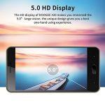 Telephone Portable Debloqué, DOOGEE X20 Smartphone Pas Cher, 3G Android 7.0 Téléphone (Écran 5 Pouce IPS, MT6580 Quad Core, 1GB RAM + 16GB ROM, Double SIM, 5MP Caméra, 2580mAh) - Oro de la marque DOOGEE image 2 produit