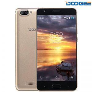 Telephone Portable Debloqué, DOOGEE X20 Smartphone Pas Cher, 3G Android 7.0 Téléphone (Écran 5 Pouce IPS, MT6580 Quad Core, 1GB RAM + 16GB ROM, Double SIM, 5MP Caméra, 2580mAh) - Oro de la marque DOOGEE image 0 produit