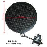 Tencro 47-53mm Microphone Mont Shock avec Double Pop Pop Filtre & Adaptateur à vis, Réglable Anti Vibration Haute isolation Métal Micro Mount Clip de support pour le diamètre de 47-53mm Microphone de la marque Tencro image 3 produit