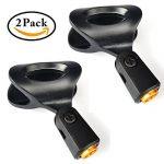 """Tencro Premium Universal Microphone Clip titulaire avec 5/8 """"mâle à 3/8"""" filetage femelle adaptateur pour vis pour microphone de taille standard de 2,2 cm à 3,6 cm - paquet de 2 de la marque Tencro image 4 produit"""