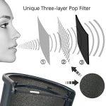 TiGree Microphone Filtres Anti-Pop Mic Vent Bruit l'Écran Filtre avec Couche de Mousse pour Studio d'Enregistrement, Noir de la marque TiGree image 2 produit