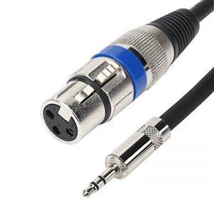 TISINO - Câble stéréo asymétrique de 3,5 mm - TRS mâle vers XLR femelle - Pour connecter des micros professionnels à des caméras DSLR 5 Feet noir de la marque Tisino image 0 produit