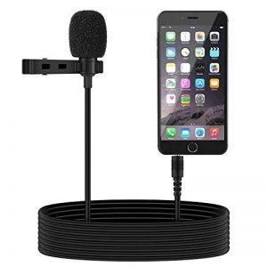 Tonor 3.5mm Audio Jack Microphone à Condensateur Omnidirectionnel Cravate Revers Tie Clip On Mini Mic pour Téléphone, Android, Iphone, Ipad de la marque Tonor image 0 produit