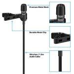 Tonor 3.5mm Audio Jack Microphone à Condensateur Omnidirectionnel Cravate Revers Tie Clip On Mini Mic pour Téléphone, Android, Iphone, Ipad de la marque Tonor image 2 produit