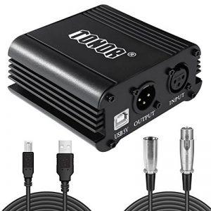 TONOR 48V Alimentation Fantôme avec Câble USB XLR pour Équipement d'Enregistrement de Musique de Microphone à Condensateur de la marque Tonor image 0 produit