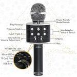 Tonor Microphone Bluetooth WS-858 Micro sans Fil à Main de Condensateur avec Haut-parleur Portable Compatible avec iPhone PC Android IOS pour Karaoke KTV Chant Noir de la marque Tonor image 3 produit