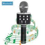 Tonor Microphone Bluetooth WS-858 Micro sans Fil à Main de Condensateur avec Haut-parleur Portable Compatible avec iPhone PC Android IOS pour Karaoke KTV Chant Noir de la marque Tonor image 2 produit