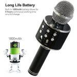 Tonor Microphone Bluetooth WS-858 Micro sans Fil à Main de Condensateur avec Haut-parleur Portable Compatible avec iPhone PC Android IOS pour Karaoke KTV Chant Noir de la marque Tonor image 4 produit