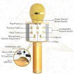 Tonor Microphone Bluetooth WS-858 Micro sans Fil à Main de Condensateur avec Haut-parleur Portable Compatible avec iPhone PC Android IOS pour Karaoke KTV Chant Or de la marque Tonor image 2 produit