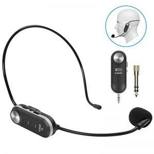 Tonor Microphone Casque UHF Micro Serre-Tête sans Fil avec 10 Canaux Rechargeable avec Récepteur pour Amplificateur de Voix Système de Son Audio Haut-Parleur Externe Camera DSLR de la marque Tonor image 0 produit