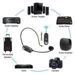 Tonor Microphone Casque UHF Micro Serre-Tête sans Fil avec 10 Canaux Rechargeable avec Récepteur pour Amplificateur de Voix Système de Son Audio Haut-Parleur Externe Camera DSLR de la marque Tonor image 1 produit