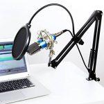 Tonor Microphone à Condensateur Podcasting Studio Enregistrement pour Ordinateur avec Microphone Réglable Suspension Perche Ciseaux Bras Microphone Kits Bleu de la marque Tonor image 4 produit