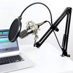 Tonor Microphone à Condensateur Podcasting Studio Enregistrement pour Ordinateur avec Microphone Réglable Suspension Perche Ciseaux Bras Microphone Kits Noir de la marque Tonor image 4 produit