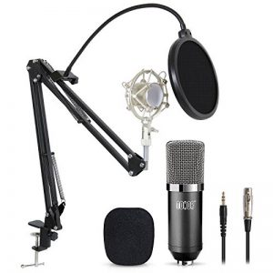 Tonor Microphone à Condensateur Podcasting Studio Enregistrement pour Ordinateur avec Microphone Réglable Suspension Perche Ciseaux Bras Microphone Kits Noir de la marque Tonor image 0 produit