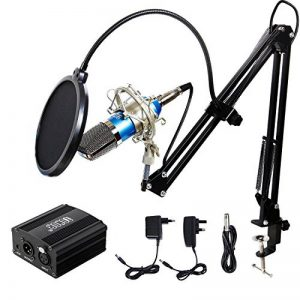 Tonor Microphone à Condensateur XLR à 3,5 mm podcasting Studio Enregistrement Professionnel Kit micro avec Alimentation Fantôme 48V et Convertisseur AC EU Bleu de la marque Tonor image 0 produit
