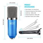 Tonor Microphone à Condensateur XLR à 3,5 mm podcasting Studio Enregistrement Professionnel Kit micro avec Alimentation Fantôme 48V et Convertisseur AC EU Bleu de la marque Tonor image 2 produit
