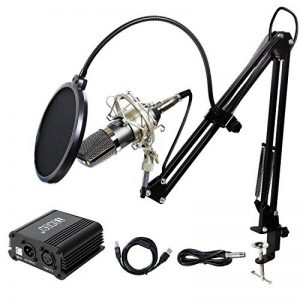 TONOR Microphone à Condensateur XLR à 3,5 mm Podcasting Studio Enregistrement Professionnel Kit Micro avec Alimentation Fantôme 48V et Convertisseur AC EU Noir de la marque Tonor image 0 produit