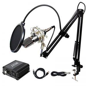 TONOR Microphone à Condensateur XLR à 3,5 mm Podcasting Studio Enregistrement Professionnel Kit Micro avec Alimentation Fantôme 48V et Convertisseur AC EU Noir de la marque Tonor image 0 produit