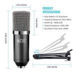 TONOR Microphone à Condensateur XLR à 3,5 mm Podcasting Studio Enregistrement Professionnel Kit Micro avec Alimentation Fantôme 48V et Convertisseur AC EU Noir de la marque Tonor image 2 produit