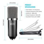TONOR Microphone à Condensateur XLR à 3,5 mm Podcasting Studio Enregistrement Professionnel Kit Micro avec Alimentation Fantôme 48V et Convertisseur AC EU Noir de la marque Tonor image 2 produit