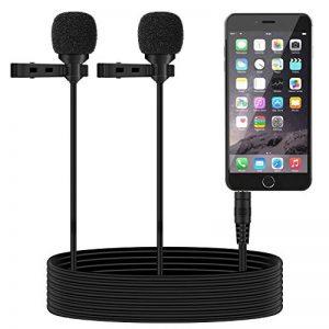 TONOR Microphone Cravate Double Tête Enregistrement Clip Mini Mic microphone pour IPhone IPad et Smartphone Android de la marque Tonor image 0 produit