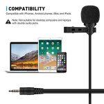 TONOR Microphone Cravate Double Tête Enregistrement Clip Mini Mic microphone pour IPhone IPad et Smartphone Android de la marque Tonor image 3 produit