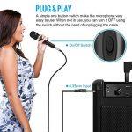 """Tonor Microphone Dynamique avec Fil Micro Vocal avec Câble XLR de 16,5 pieds à 6,35 mm 1/4"""" pour Machine à Karaoké/Divertissement Familial/Fête d'Anniversaire/Utilisation en Salle de Classe Noir de la marque Tonor image 3 produit"""