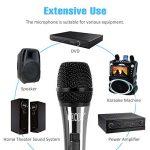 """TONOR Microphone Dynamique avec Fil Micro Vocal avec Câble XLR de 16,5 pieds à 6,35 mm 1/4"""" pour Machine à Karaoké/Divertissement Familial/Fête d'Anniversaire/Utilisation en Salle de Classe, Noir de la marque Tonor image 3 produit"""