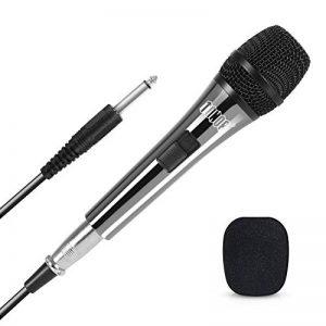 """TONOR Microphone Dynamique avec Fil Micro Vocal avec Câble XLR de 16,5 pieds à 6,35 mm 1/4"""" pour Machine à Karaoké/Divertissement Familial/Fête d'Anniversaire/Utilisation en Salle de Classe, Noir de la marque Tonor image 0 produit"""