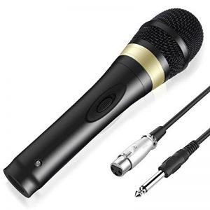 """Tonor Microphone Dynamique avec Fil Micro Vocal avec Câble XLR de 16,5 pieds à 6,35 mm 1/4"""" pour Machine à Karaoké/Divertissement Familial/Fête d'Anniversaire/Utilisation en Salle de Classe Noir de la marque Tonor image 0 produit"""