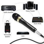 """Tonor Microphone Dynamique avec Fil Micro Vocal avec Câble XLR de 16,5 pieds à 6,35 mm 1/4"""" pour Machine à Karaoké/Divertissement Familial/Fête d'Anniversaire/Utilisation en Salle de Classe Noir de la marque Tonor image 2 produit"""