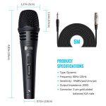 TONOR Microphone Dynamique Professionnel Avec 4,8m Câble Pour DVD/Télévision/KTV Audio/Réflecteur/Mélangeoir/Autobus De Tourisme de la marque Tonor image 3 produit