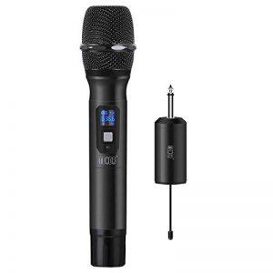"""TONOR Microphone sans Fil 25 Canaux UHF, avec Mini Récepteur Portable Sortie 1/4"""", pour Réunion d'Affaire/Maison/Karaoké/Église, Noir de la marque Tonor image 0 produit"""