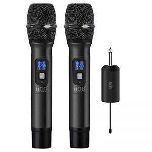 """TONOR Microphone sans Fil 25 Canaux UHF avec Récepteur Portable Sortie 1/4"""" (2pcs) de la marque Tonor image 0 produit"""