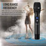 """TONOR Microphone sans Fil 25 Canaux UHF avec Récepteur Portable Sortie 1/4"""" (2pcs) de la marque Tonor image 1 produit"""