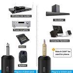 """TONOR Microphone sans Fil 25 Canaux UHF avec Récepteur Portable Sortie 1/4"""" (2pcs) de la marque Tonor image 2 produit"""