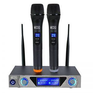 Tonor Microphone sans Fil de Système VHF Portable Micro à Main avec Double Microphones Dynamiques et Écran LED pour Karaoké Réunion Fiesta de la marque Tonor image 0 produit
