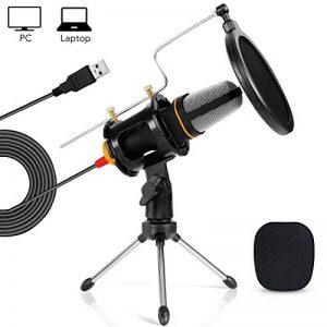 Tonor Microphone USB Micro PC avec Support de Trépied de Bureau pour PC Ordinateur Portable Chant YouTube Skype Noir de la marque Tonor image 0 produit