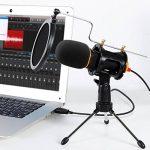 Tonor Microphone USB Micro PC avec Support de Trépied de Bureau pour PC Ordinateur Portable Chant YouTube Skype Noir de la marque Tonor image 1 produit