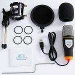 Tonor Microphone USB Micro PC avec Support de Trépied de Bureau pour PC Ordinateur Portable Chant YouTube Skype Noir de la marque Tonor image 4 produit