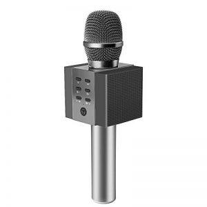 TOSING 008 microphone sans fil Bluetooth karaoké, plus fort volume 10W puissance, plus de basse, 3-en-1 portable poche double haut-parleur micro machine pour iPhone/Android / iPad/PC (noir) de la marque TOSING image 0 produit