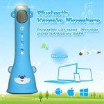 TOSING X3 Karaoke Microphone pour enfants Microphone sans fil Chant Machine meilleur cadeau pour les garçons et les filles d'anniversaire 2018-Kids Karaoke Machines (Bleu) de la marque TOSING image 1 produit